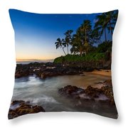 Maui Cove - Beautiful And Secluded Secret Beach. Throw Pillow