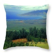 Maui Hawaii Upcountry View Throw Pillow