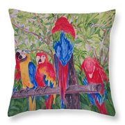 Maui Macaws Throw Pillow