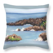 Maui Rock Bridge Throw Pillow