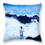 Maui Shore At The Keanae Pennisula 2 Throw Pillow
