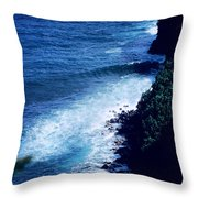 Maui Shoreline On The Way To Hana Throw Pillow by J D Owen