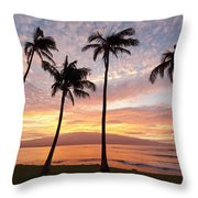 Maui Sunrise Throw Pillow
