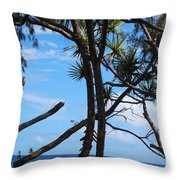 Maui Tree Silhouette Throw Pillow