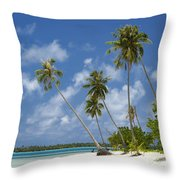 Maupiti Lagoon Throw Pillow