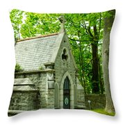 Mausoleum In Cemetery Throw Pillow