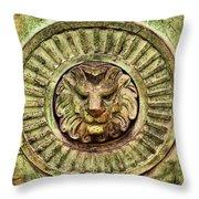 Mausoleum Lion Throw Pillow