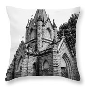 Mausoleum New England Black And White Throw Pillow