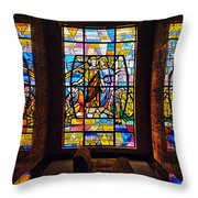 Mausoleum Stained Glass 01 Throw Pillow