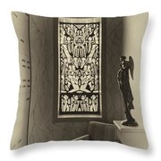 Mausoleum Stained Glass 02 Throw Pillow