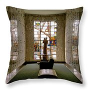 Mausoleum Stained Glass 04 Throw Pillow