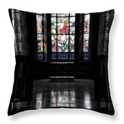 Mausoleum Stained Glass 05 Throw Pillow