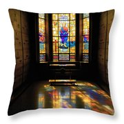 Mausoleum Stained Glass 06 Throw Pillow