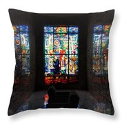 Mausoleum Stained Glass 07 Throw Pillow