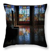 Mausoleum Stained Glass 08 Throw Pillow