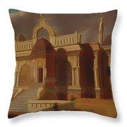 Mausoleum With Stone Elephants Throw Pillow