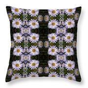 Mauve Beauty Pattern Throw Pillow