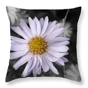 Mauve Beauty W-black And White Throw Pillow