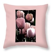 Mauve In The Morning Throw Pillow