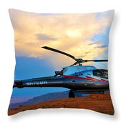 Maverick Helicopter Throw Pillow