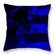 Max Americana In Blue Throw Pillow