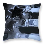 Max Americana In Cyan Throw Pillow