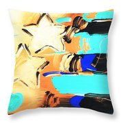 Max Americana In Inverted Colors Throw Pillow