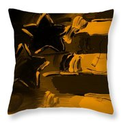 Max Americana In Orange Throw Pillow
