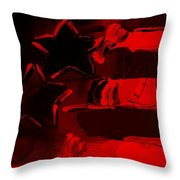 Max Americana In Red Throw Pillow