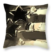Max Americana In Sepia Throw Pillow