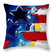 Max Americana Throw Pillow