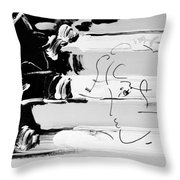 Max Stars And Stipes In Black And White Throw Pillow