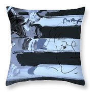 Max Stars And Stripes In Cyan Throw Pillow