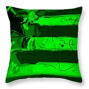 Max Stars And Stripes In Green Throw Pillow
