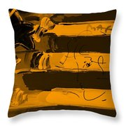 Max Stars And Stripes In Orange Throw Pillow