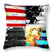 Max Stars And Stripes In Quad Colors Throw Pillow