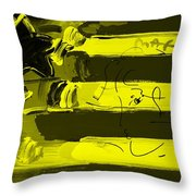 Max Stars And Stripes In Yellow Throw Pillow