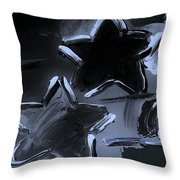 Max Two Stars In Cyan Throw Pillow