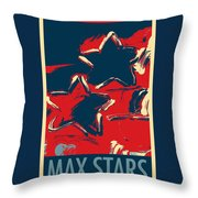 Max Two Stars In Hope Throw Pillow