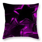 Max Two Stars In Purple Throw Pillow