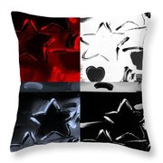 Max Two Stars In Quad Colors Throw Pillow