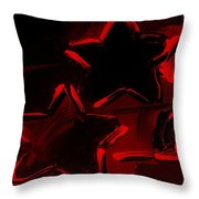 Max Two Stars In Red Throw Pillow