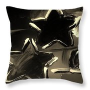 Max Two Stars In Sepia Throw Pillow