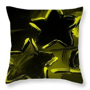 Max Two Stars In Yellow Throw Pillow