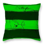 Max Woman In Green Throw Pillow