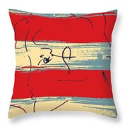 Max Woman In Hope Throw Pillow