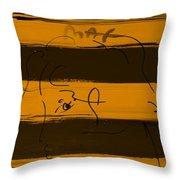 Max Woman In Orange Throw Pillow