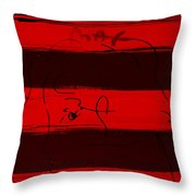 Max Woman In Red Throw Pillow