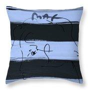 Max Women In Cyan Throw Pillow