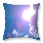 Maxfield Parrish Blue Clouds Over Lagrange Throw Pillow